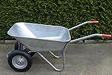 Schubkarre mit 2 Rädern, 100L, Stahl, robust, Beschichtet,...